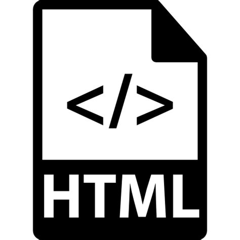 html file  code symbol  interface icons