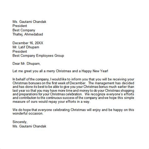 sample christmas letter templates ms word