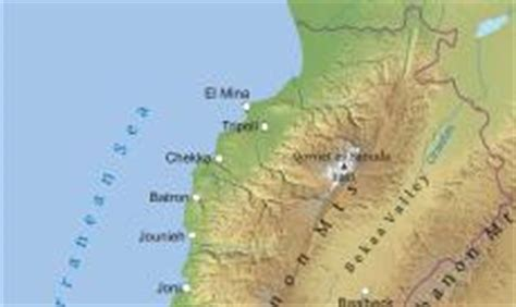 physical map of lebanon where is lebanon located on the world map