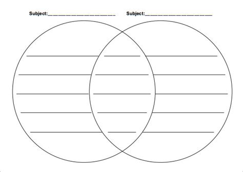 venn diagram template 20 venn diagram templates sle exle format