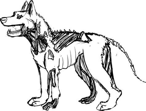 zombie dog coloring page zombie german shepherd coloring pages coloringsuite com