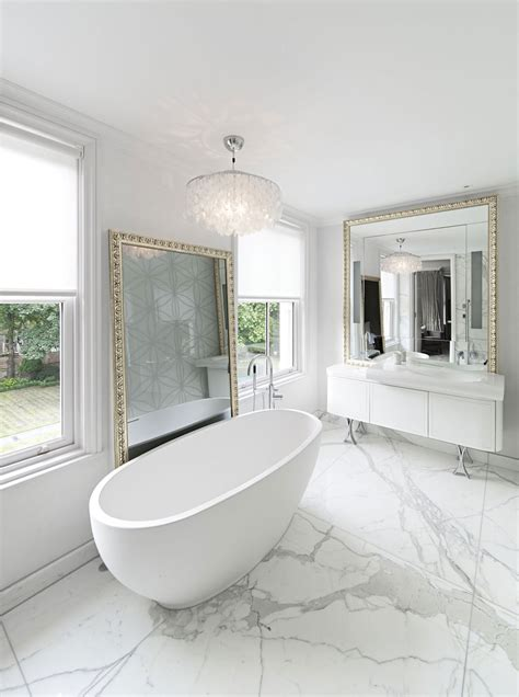Modern White Bathroom 30 Marble Bathroom Design Ideas Styling Up Your Daily Rituals Freshome