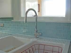 aqua glass subway tiles backsplash subway