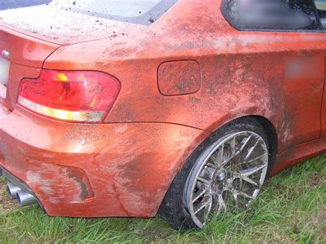 bmw 1 series m coupe crash no2