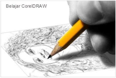 cara membuat sketsa pensil dari foto belajar coreldraw