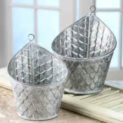 Galvanized Planter by Galvanized Hanging Planters Decorative Accents