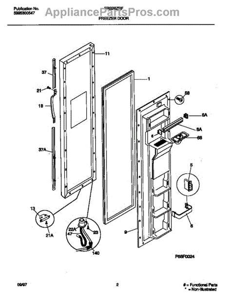 Refrigerator Door Replacement Parts by Parts For Frigidaire Frs26zrfw3 Freezer Door Parts