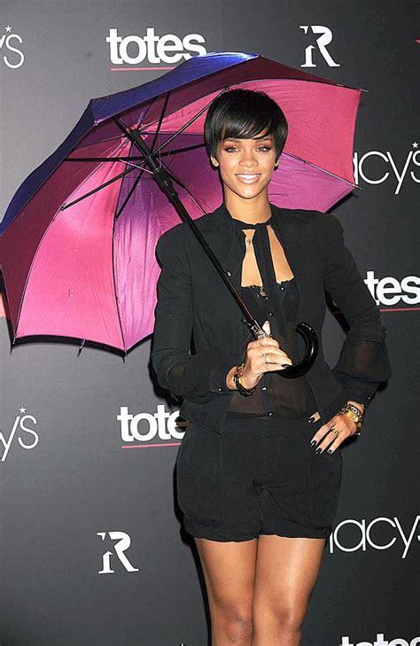 Rihannas Umbrella Collection by Rihanna Wearing Matthew Williamson Photograph By Everett