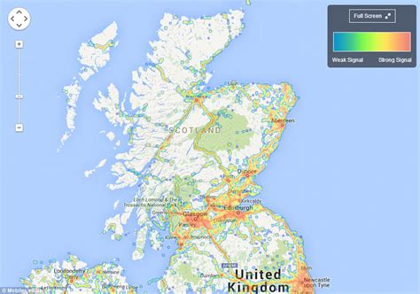 mobile phone coverage uk map reveals mobile coverage across the uk and which