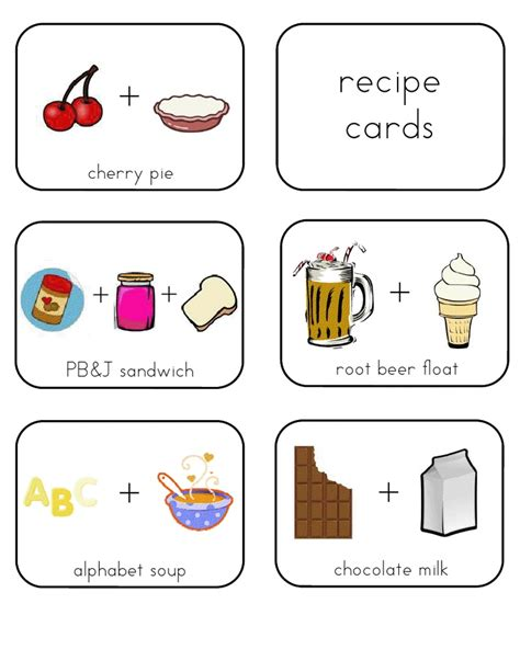 printable toddler recipes 17 best images about kid recipe cards on pinterest