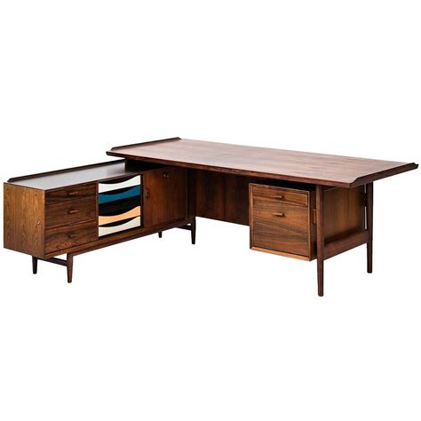 v shaped desk arne vodder l shaped desk with sideboard model 209 at 1stdibs