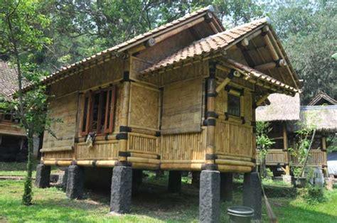 aneka model rumah bambu jawa barat menarik rumah impian
