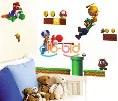 mario brothers wall stickers new mario bros pvc removable wall sticker home decor
