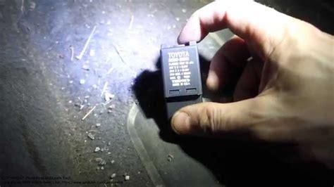 flasher relay location  toyota corolla years