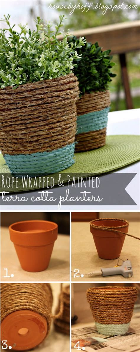 homemade flower pots beautify your home and garden with these awesome diy