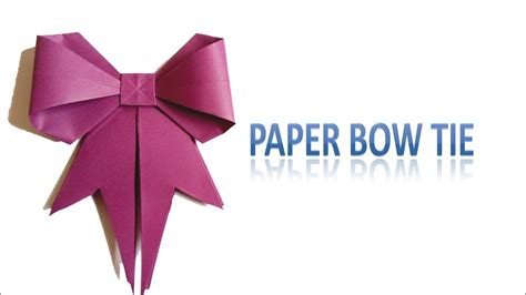 Easy Origami Bow Tie - easy origami for paper bow tie simple paper craft