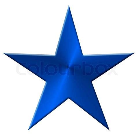 stern fotografie 70 3652000714 stern metall 5 f 252 nf zacken blau stockfoto colourbox