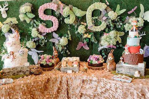 Kids Table Set Kara S Party Ideas Enchanted Woodland Forest Birthday
