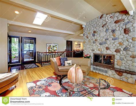posh home interior open modern luxury home interior living room and stone