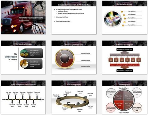 logistics powerpoint template powerpoint advanced logistics template