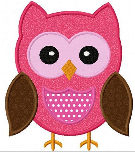 free applique instant owl applique machine embroidery design no