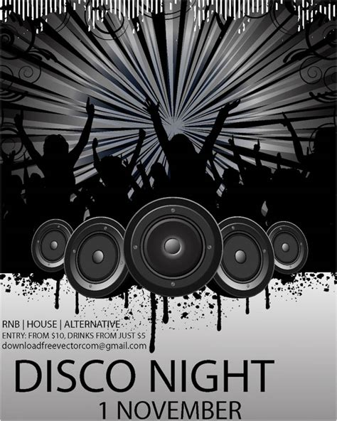 disco flyer template posters vector graphics page 5