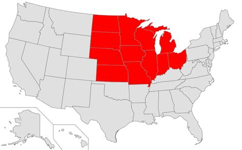 map of midwest states file map of usa highlighting midwest png wikimedia commons