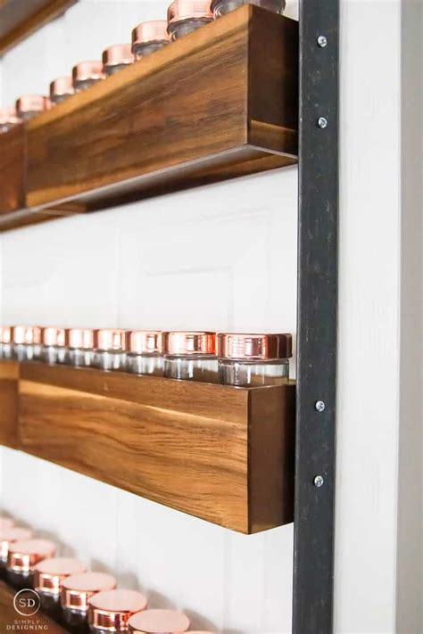 diy copper spice rack how to build a diy spice rack that can hang on your pantry