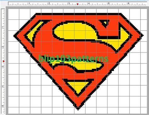 superman logo crochet pattern 105 best images about superman perler hama cross stitch