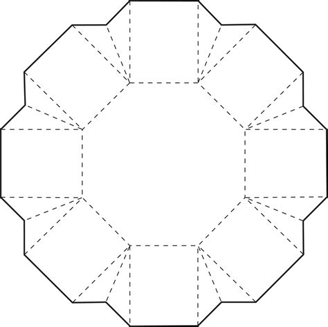 Origami Box Template - origami octagon box cricut box and hexagon box origami