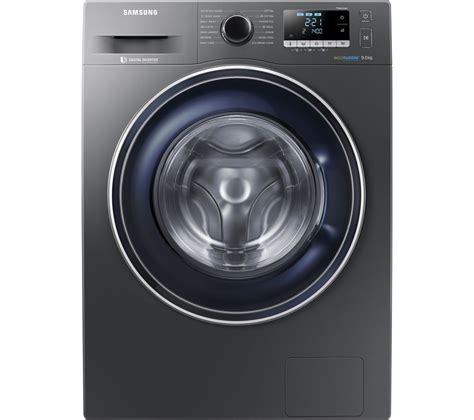 buy samsung ecobubble ww90j5456fx 9 kg 1400 spin washing machine graphite free delivery currys