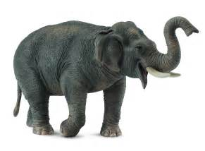 asian elephant model collecta brand red toys