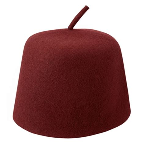 Zafiara Maroon By Fnd Labels hat shop maroon fez with stem fez
