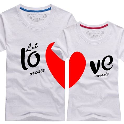 lover t shirts aliexpress buy couples t shirts printing100 cotton