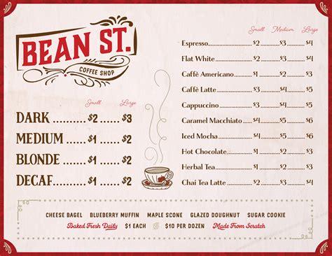 design a coffee shop menu create a vintage coffee shop menu in illustrator design