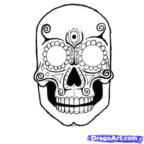how to draw a sugar skull step by step skulls pop