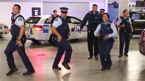 running man police fire departments around the world dance in