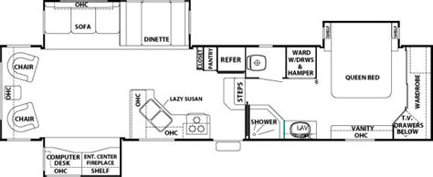 cedar creek fifth wheel floor plans new 2017 forest river rv cedar creek hathaway edition 34rl
