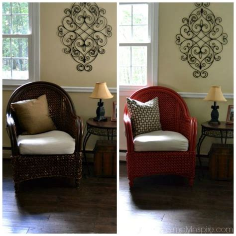 how to paint wicker furniture with a brush chair makeover