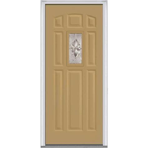 32 X 73 Exterior Door Mmi Door 32 In X 80 In Heirloom Master Right 1 Lite 8 Panel Classic Painted Steel Prehung