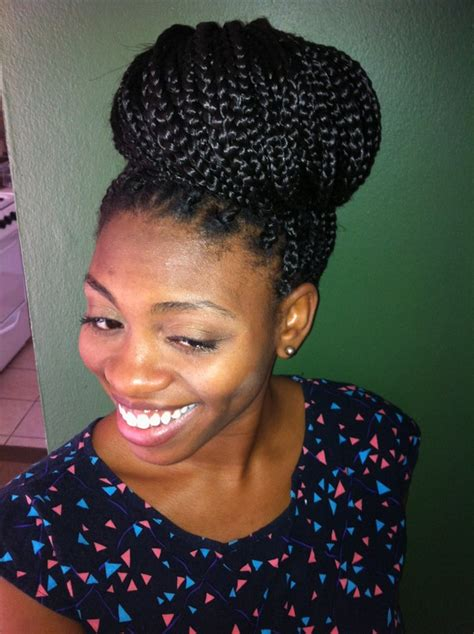 how to put thick braids in a bun 72 box braids hairstyles with instructions and images