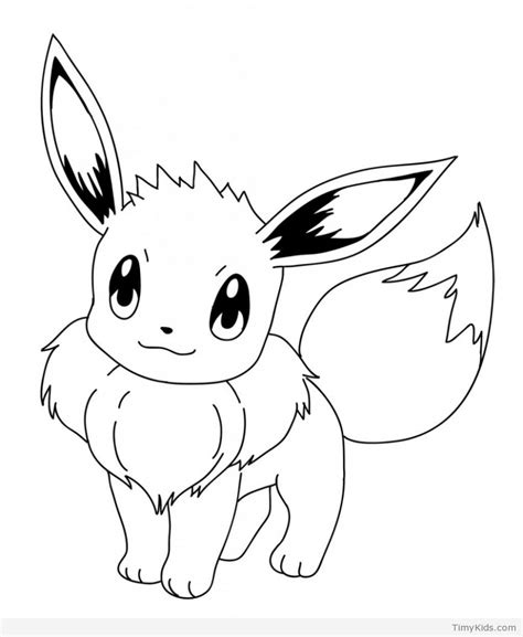 cute pokemon coloring pages eevee 50 pokemon coloring pages timykids