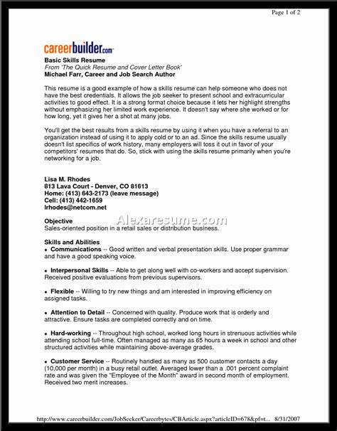resume statements exles resume and cover letter