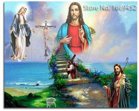 imagenes en 3d de jesus 3d diy diamond painting religious jesus our lady at the