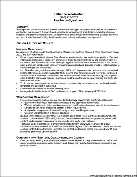 resume format for office office resume templates 2016 free sles exles
