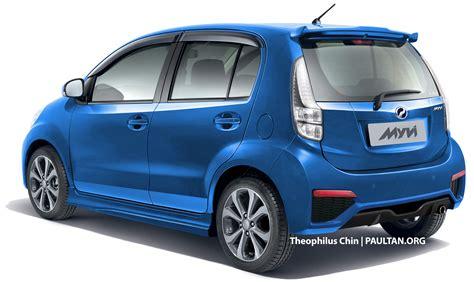 perodua myvi vs proton new saga blm review comparison perodua myvi facelift rendered with new rear view