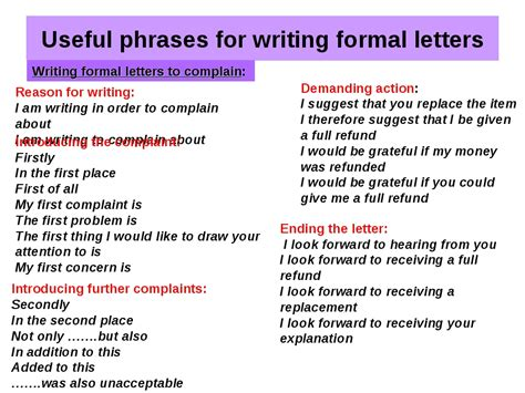 Business Letter Writing Useful Phrases Useful Phrases Formal Letter Writing Ielts Simon General Writing11 Conclusion Of A Formal