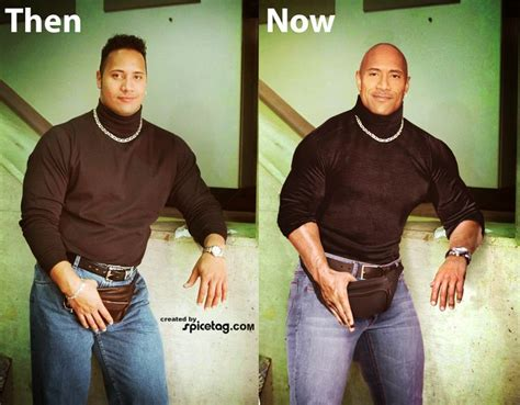 dwayne the rock johnson then and now 101 best images about fan made art on pinterest man of