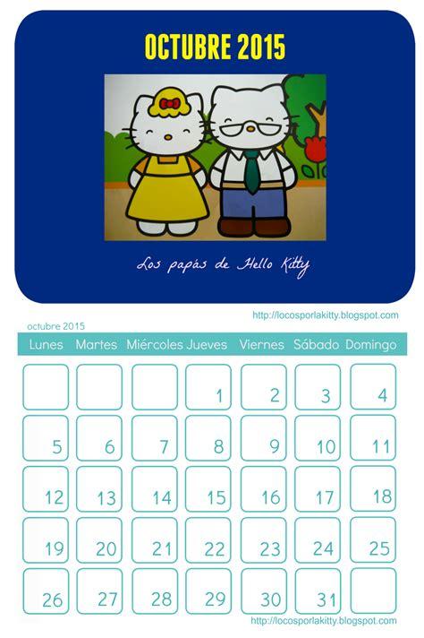 imagenes calendario octubre 2015 calendario hello kitty octubre 2015 locos por hello kitty