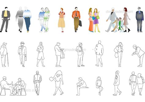 dwg format photoshop casual people 2 dwg free cad blocks download